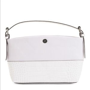 Vince Camuto white leather hobo